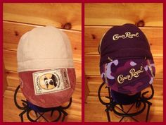 CUSTOMIZED WELDER CAPS USING CROWN ROYAL  liquor bags.  Reverse side your option. $25.00 Great Christmas gift.