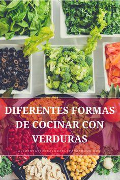 Si te gustan las ideas a la hora de cocinar con verduras, este artículo te ayudará. Además de contarte la mejor forma de cocinar cada verdura, también sabrás como conservarlas y en qué puedes leerlas. #verduras #recetassaludables