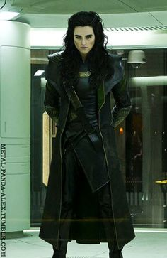 Loki's body/costume and Morgana's head. I don't know why, but this makes the geek/fangirl in me REALLY happy.