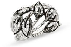 1/3 Carat Diamond Sterling Silver Ring w/Black Rhodium