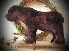Realistic brutal brown bear sculpture by LarchikTeddyLand on Etsy