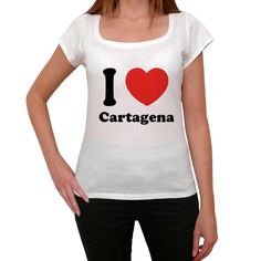 Cartagena T shirt woman,traveling in, visit Cartagena,Women's Short Sleeve Rounded Neck T-shirt 00031