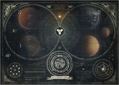 The antique star chart from Destiny - is amazing itself as art!