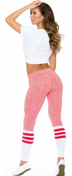 These luxury leggings are made of super lightweight fabric that literally feel like a second skin. Once you put these high quality leggings on, there's a good chance you're not going to want to take them off. Sock Leggings, Girls In Leggings, Workout Attire, Workout Wear, Workout Outfits, Catsuit, Sport Fashion, Fitness Fashion, Sporty Outfits