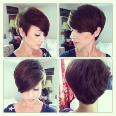 pixie cut - I don't know that I'm quite brave enough for this, but I love this cut.