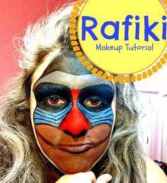Rafiki - Makeup Tutorial (O Macaco do filme O Rei Leão)
