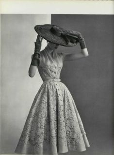 by Pierre Balmain (1950s) by virginia. I love the style of the 1950s!
