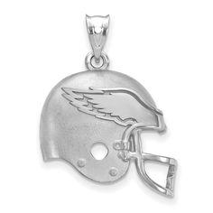 Jewel Tie 925 Sterling Silver University of Iowa Pendant in Football 19mm x 21mm