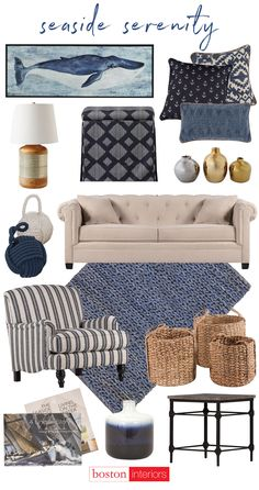 Sink in to seaside serenity with coastal blues!