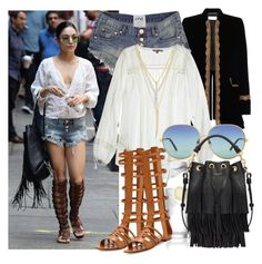 """""""Vanessa Hudgens"""" by justadream133 ❤ liked on Polyvore featuring Yves Saint Laurent, Calypso St. Barth, Menu, Wildfox and CC SKYE"""