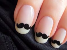Mustache nails :) (look up cute polish on YouTube)