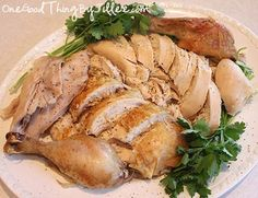 "How to make your own ""rotisserie chicken""...no rotisserie required! :-)"