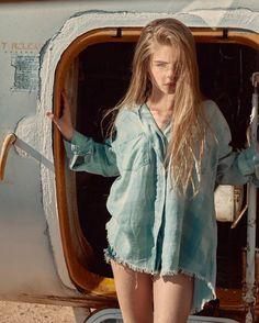 Just wake up and no . John john Denim kid 📷 style by Teen Models, Young Models, Child Models, The Most Beautiful Girl, Beautiful People, Fashion Models, Girl Fashion, Jade Weber, Kristina Pimenova