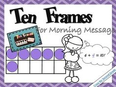 This is as easy as 1. 2. 3.!  Simply laminate these cards on cardstock, display it in your morning message area, and rotate daily for student learning!  Students walk up with a dry erase marker to show their thinking.Math Grid PracticeFrames and Arrows