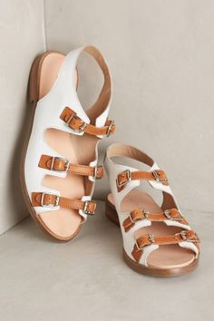 Shop the latest sandals at Anthropologie from new slide sandals to lace up sandals and more. White Sandals, Lace Up Sandals, Gladiator Sandals, Leather Sandals, Shoes Sandals, Flat Sandals, Sock Shoes, Shoe Boots, Comfortable Fashion