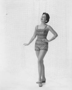 Sharon Ritchie, Miss America 1956 - Beachwear :: Joseph Bancroft and Sons Photograph Collection