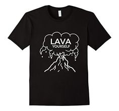 92355d3e82be Men s Lava Yourself T-Shirt Erupting Volcano Love Funny Novelty 3XL Black