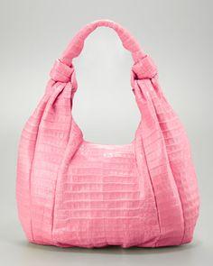 Crocodile Hobo Bag, Pink by Nancy Gonzalez at Bergdorf Goodman.