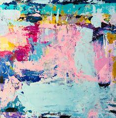 Abstract art painting Judy Bird Landscape