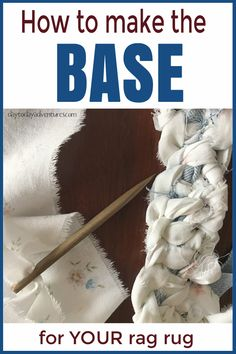 Getting started is the hardest part!  After learning to make the base for your rag rug it is SO easy!  Only one stitch! - DaytoDayAdventures.com
