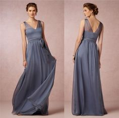 Wholesale Bridesmaid Dresses - Buy New Bridesmaid Dresses 2015 Party Prom Backless Ball Gowns Formal Dress Cheap Sexy Bridesmaids Long Dark Grey Vintage Vestidos Maid of Honor, $81.99 | DHgate