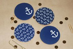 "Anchor 4"" Round Cork Coaster (Set of 4) via Etsy $8"