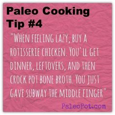 Even when you're feeling lazy, you could still eat a good, healthy Paleo meal! Here's the tip! #paleo #paleocooking #paleotip
