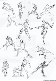 Concept Art / Character Design Skizzenbuch #1 Fighting-pose - Resources for CAPI -Create Art Portfolio Ideas at www.milliande.com