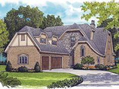 Tudor House Plan with 4378 Square Feet and 4 Bedrooms from Dream Home Source | House Plan Code DHSW63947