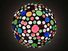 Disco ball  glass mosaic table lamp one of a kind by mooz on Etsy, $120.00