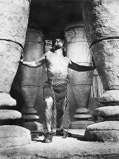 """Victor Mature en """"Sansón y Dalila"""" (Samson and Delilah), 1949"""