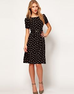 Enlarge ASOS Midi Dress in Daisy Print - Could definitely imagine wearing this to a bridal shower, wedding, or out on a date night.