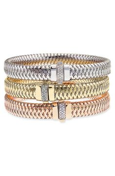 Roberto Coin 'Primavera' Woven Diamond Bracelet available at #Nordstrom