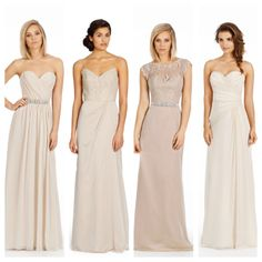Jim Hjelm Occasions Bridesmaids. From left to right, styles 5464, 5359, 5463, and 5465.