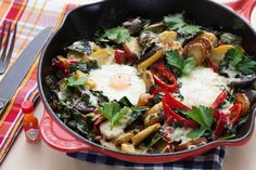 Heirloom Potato & Kale Hash with Farm Eggs & Aged Cheddar Cheese: We got the ingredients for this from Blue apron a few weeks ago, and LOVED IT. We've since recreated it for a dinner with friends, and it was just as good! Total WINNER!