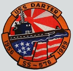 USS Darter (SS-576) Us Navy, Navy Chief Petty Officer, Naval, American Revolutionary War, Cool Patches, United States Navy, Navy Ships, Military Life, American Pride