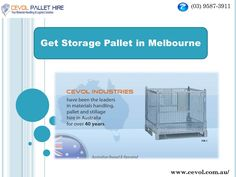 CEVOL offers high quality metal pallets, pallet cages, or custom pallets for your specific needs and requirements.