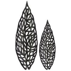 Leaf Metal Wall Du00e9cor Set Purposes Functional Addition Black Metal Wall Art Wall Decor Set Metal Wall Decor