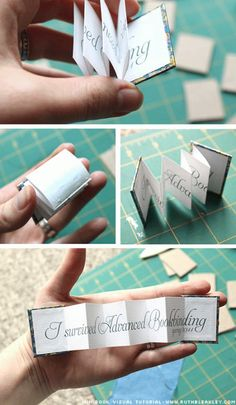 Poppytalk - The beautiful, the decayed and the handmade: Mini Accordian Book Photo Tutorial Mini Albums, Accordian Book, Concertina Book, Diy Paper, Paper Crafts, Handmade Books, Handmade Journals, Handmade Rugs, Handmade Crafts
