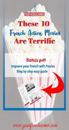 Many beginner and intermediate students are looking for French movies. These 7 terrific French action movies will knock your socks off. Learning French For Kids, Teaching French, Teach Yourself French, Improve Yourself, Action Movies To Watch, Learn French Online, French Articles, French For Beginners, French Movies