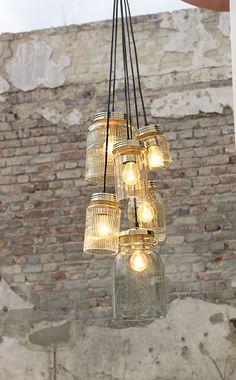 ber ideen zu einmachglas leuchten auf pinterest kronleuchter aus einmachgl sern jar. Black Bedroom Furniture Sets. Home Design Ideas