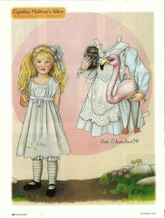 Cynthia Malbon's Alice Magazine Paper Doll, by Sue Shanahan, Doll Mag. Halloween Cut Outs, Halloween Doll, Vintage Halloween, Missing Missy, Paper Art, Paper Crafts, Foam Crafts, Vintage Paper Dolls, Paper Toys