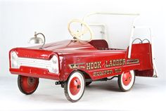 Vintage Fire Truck Pedal Car, Fire Truck Pedal Car, 1950's Fire Engine Pedal Car, 1950's Pedal Car, Hook And Ladder Pumper 519 Pedal Car by HuntandFound on Etsy