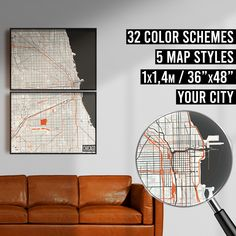 FREE SHIPPING WITHIN EU AND USA  We really love maps. Map prints, map posters, map illustrations. Our map designs consist 32 color schemes and 5 styles to choose from. Maps are very detailed and fully customizable if needed.    #mapprint #mapart #citymap #citymapprint #citymapposter #mapwallart #mapposter Chicago Poster, Chicago Map, Map Posters, City Map Poster, Map Wall Art, Map Art, Map Illustrations, Custom Map, Map Design