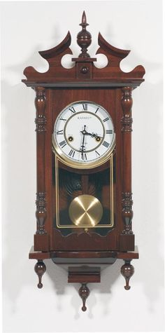 Wall Hanging Grandfather Clock antique wall clock circa 1800 wall key-wind clock | antique clocks