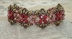 Bracelet of the Day: Flutter - Rose & Bronze (Linda's Crafty Inspirations)
