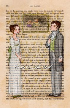Elizabeth Bennet and Mr Darcy - Jane Austen - Pride and Prejudice
