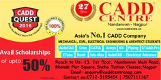 Why CADD CENTRE?Nandanvan  Authorised Training Centre Word-class courseware in detailed explanation to enhance your skills. International Recognised Certificate. Global placement Assistance 100 % guarantee. ITA industrial trained facilitator. Study Material to all students.