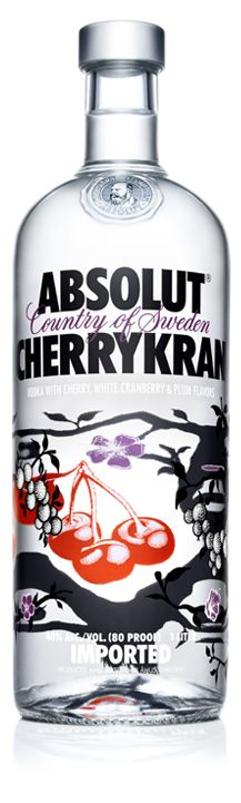 5 Parts ABSOLUT CHERRYKRAN 2 Parts Lemon juice 4 PartsPomegranate juice 1 Part Sugar syrup Shake all the ingredients and strain over crushed ice into a lowball glass. Garnish with pomegranate seed