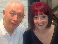 Denny and his client Joanne after her lovely new hair cut by denny and colour by sherell!